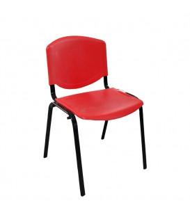 Ofisinhazır Form Plastik Sandalye Kirmizi