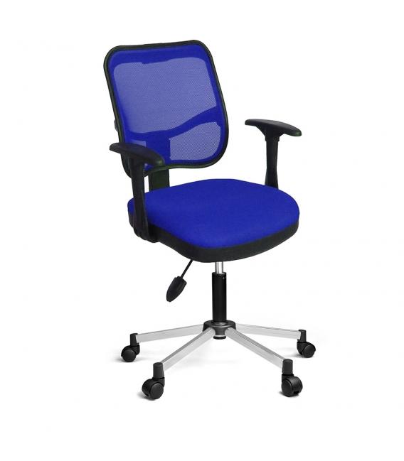 Ofisinhazır 807 File Koltuk Krom Ayak P.Mavi