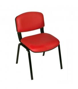 Ofisinhazır Form Sandalye 2 Adet Set Kirmizi - Deri