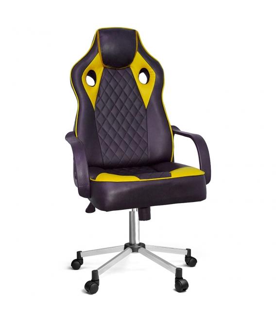 Ofisinhazır Spider Oyuncu Koltuğu Krom Ayak Sarı