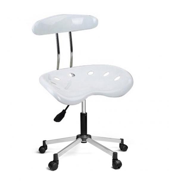 Ofisinhazır Nil Sandalye Krom Ayakli Beyaz