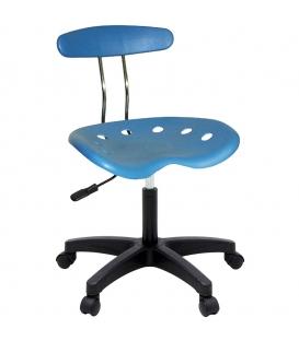 Ofisinhazır Nil Sandalye Plastik Ayak Mavi