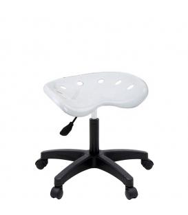 Ofisinhazır Nil Amortisörlü Tabure Plastik Ayakli Beyaz