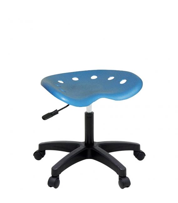 Ofisinhazır Nil Amortisörlü Tabure Plastik Ayakli Mavi