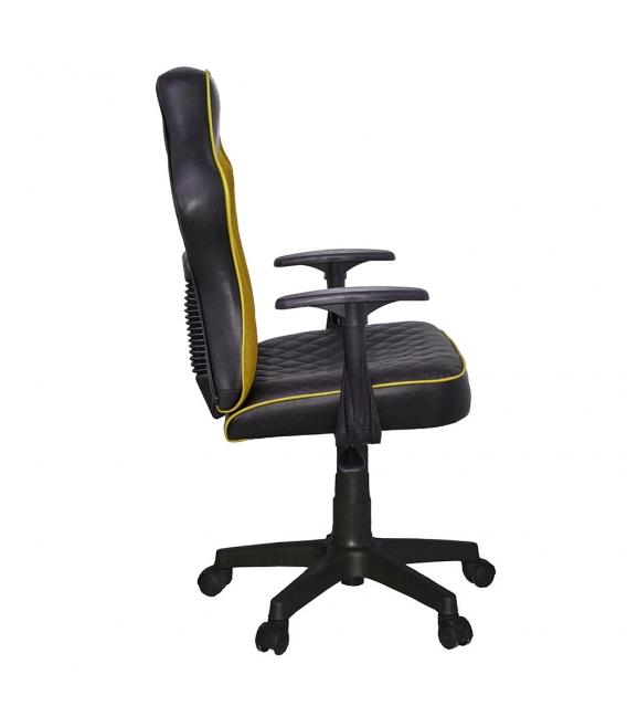 Ofisinhazır Spider Mini File Oyuncu Koltuğu Plastik Ayak Sarı