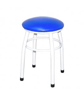 Ofisinhazır Tabure Beyaz Boyalı Ayaklı Mavi