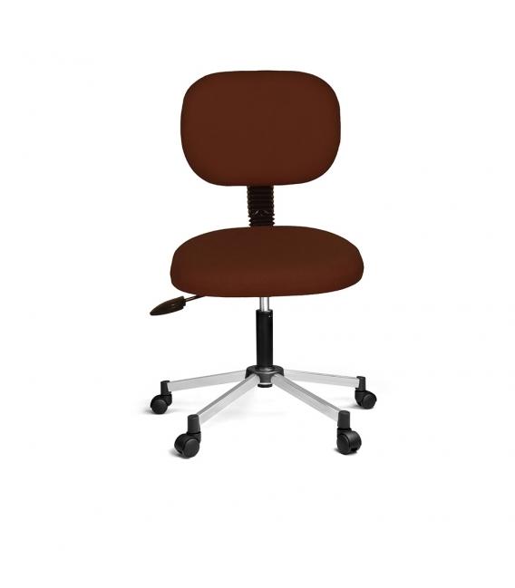 Ofisinhazır Eko Kolçaksiz Koltuk Krom Ayak Kahverengi