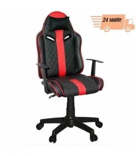 Ofisinhazir Quattro Mini Yönetici ve Oyuncu Koltuğu Siyah Kırmızı