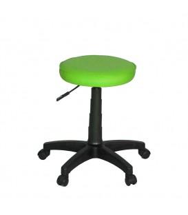 Ofisinhazır Amortisörlü Tabure Deri F.Yeşil